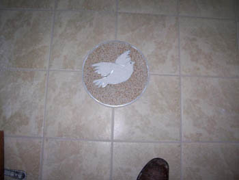 Dove Design Inlayed in tile